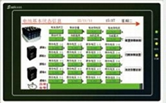 广州竣达厂家直供触摸式智能电池巡检显示屏