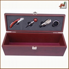 Wooden Wine Accessories Gift Box