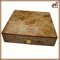 Wooden Veneer Luxury gift box for black tea
