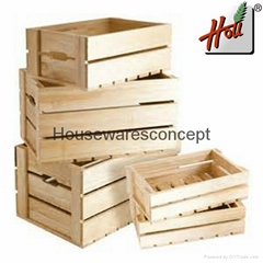 OEM design wooden fruit and vegetable storage box
