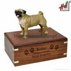 Customized wooden dog urn design
