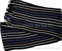 2016 KNITTED SCARF IN MULTI COLOR STRIPE