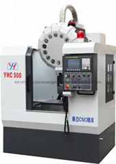 高速高精鑽銑零件加工中心機YHC500