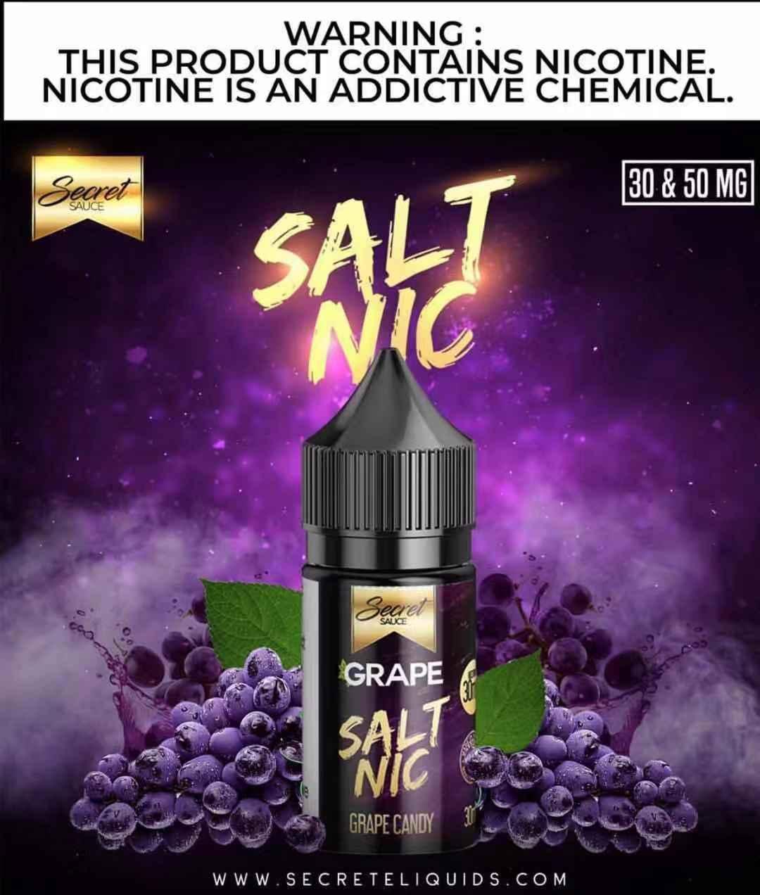 Secret Sauce Grape Salt Nic  oil    1