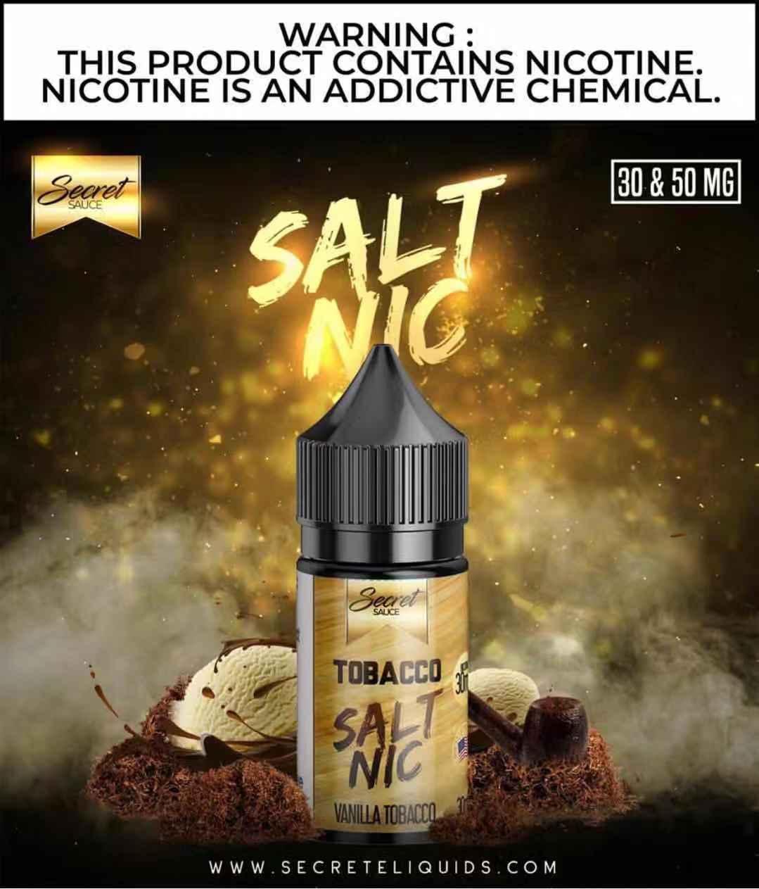 Secret Sauce tobacco Salt Nic oil    1