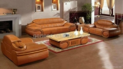 Excellent Wooden Sofa Sets with Marble Top Coffee Table