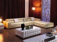 European Modern Corner Sofa Genuine Leather Sofa