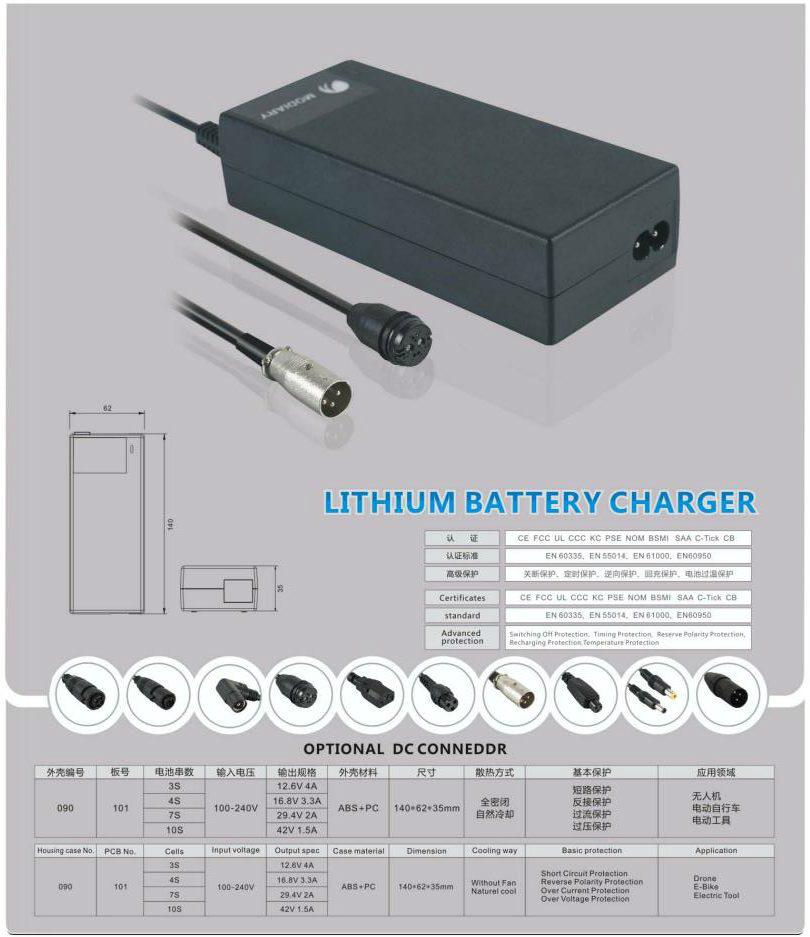 Vacuum Cleaner Charger 29.4V 2A with UL GS PSE CE approval 2