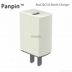 真快充QC3.0旅行充电器 单USB口 适用于iphone华为三星小米MTK