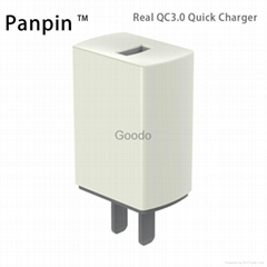 真快充QC3.0旅行充電器 單USB口 適用於iphone華為三星小米MTK