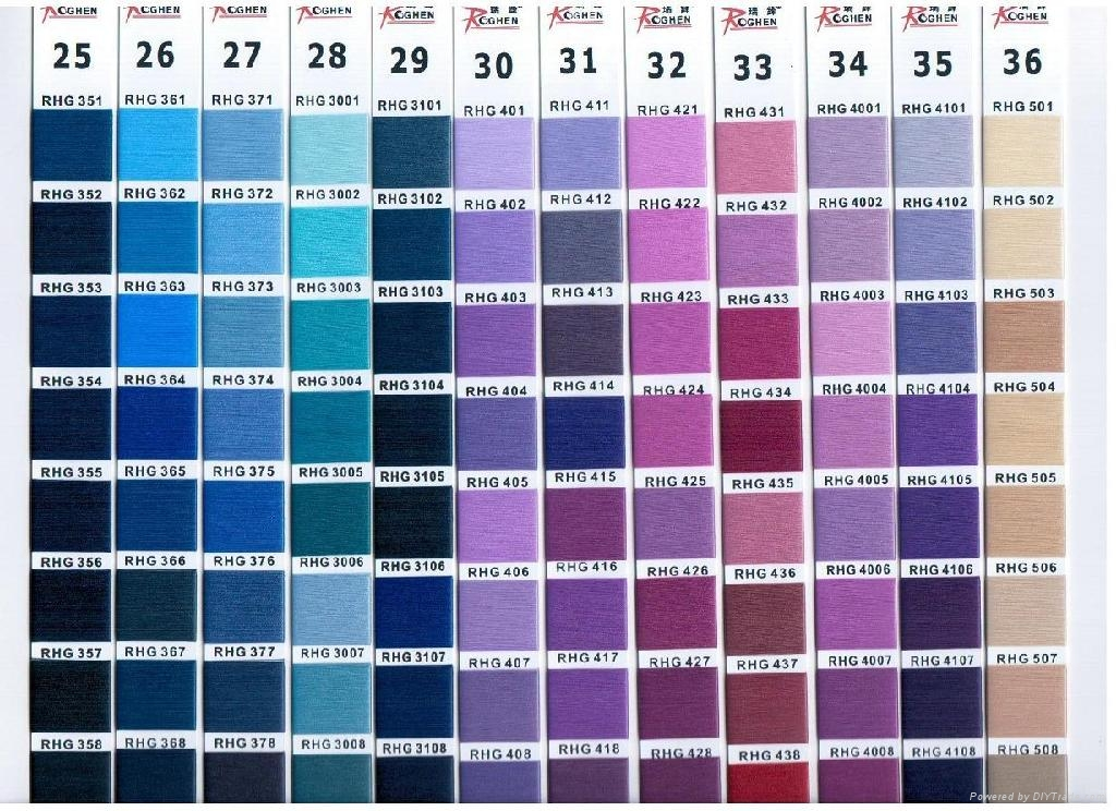 50D Black yarn for woven label 5