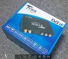 Tailand car dvb-t2 tv receiver with double tuner  can work in high speed 160km/h