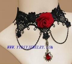 Fashion gothic lace necklaces