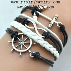 fashion hand woven leather bracelets