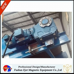 干散物料带式输送机头强磁滚筒除铁轮(输送机头铁杂质恒磁提取轮)