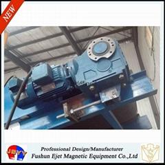干散物料帶式輸送機頭強磁滾筒除鐵輪(輸送機頭鐵雜質恆磁提取輪)