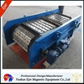 Continous durable high-impact crossbelt over-conveyor magnetic separator