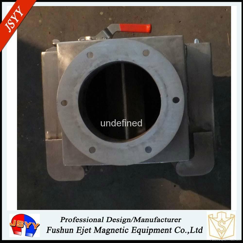 半自动封闭式管道溜槽连接防阻塞颗粒粉末物料除铁器 3