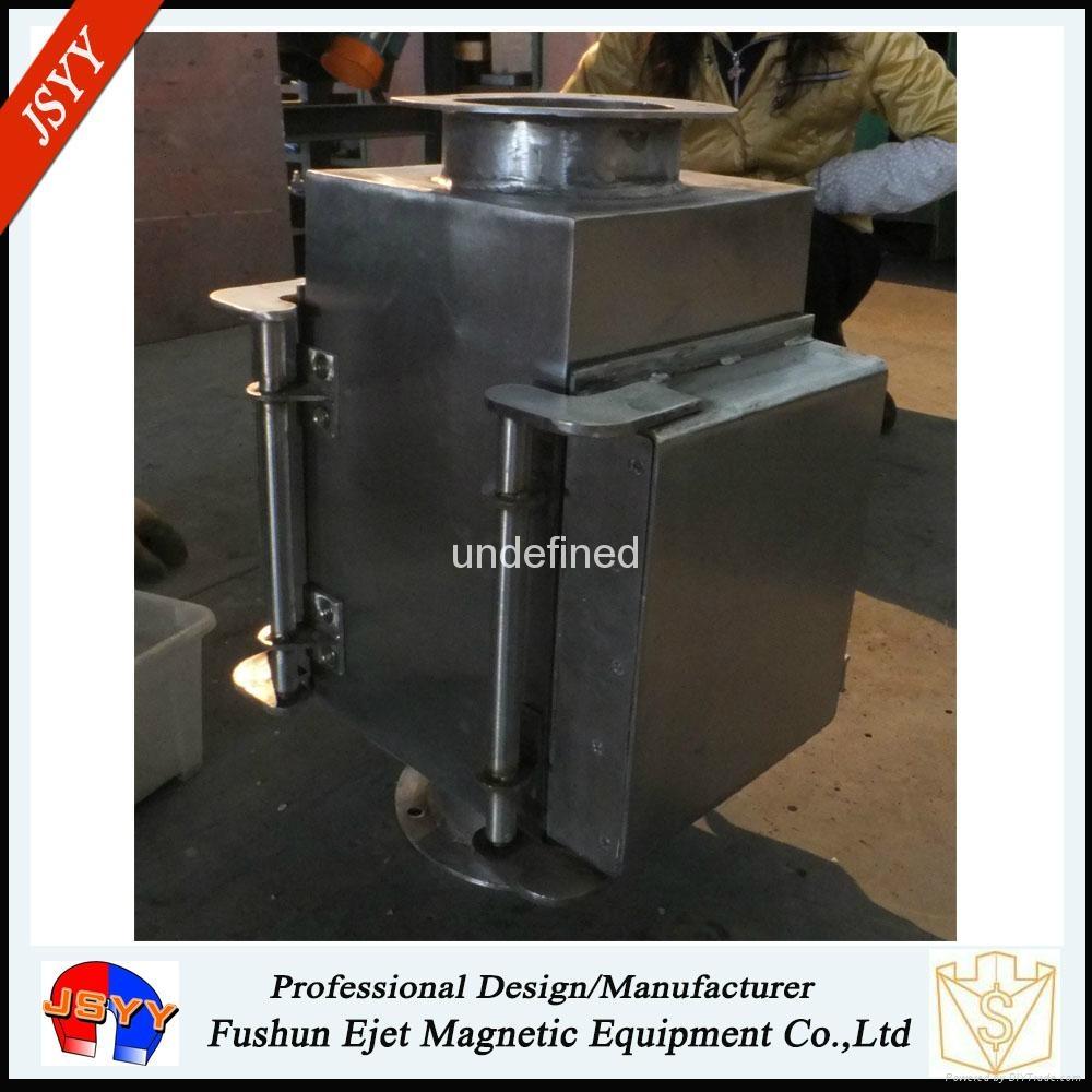 半自动封闭式管道溜槽连接防阻塞颗粒粉末物料除铁器 4