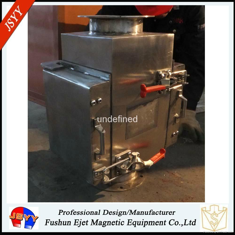 半自動封閉式管道溜槽連接防阻塞顆粒粉末物料除鐵器 2