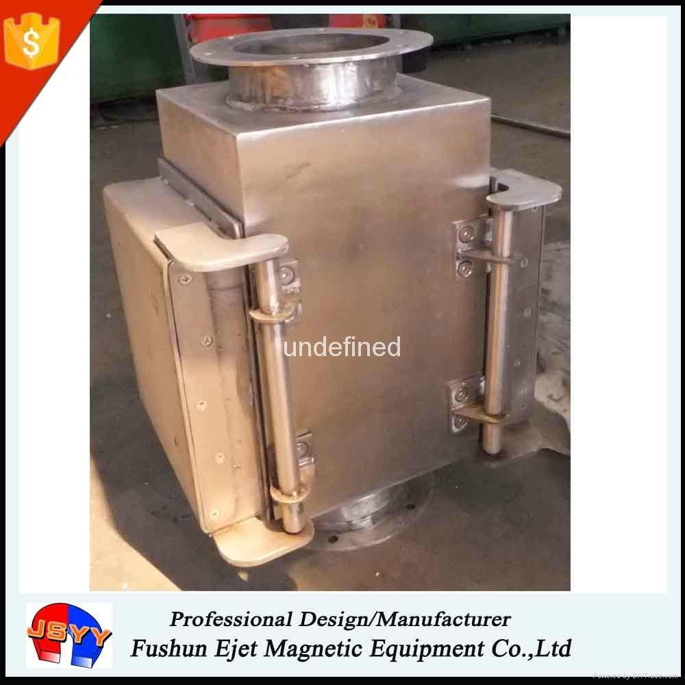 半自动封闭式管道溜槽连接防阻塞颗粒粉末物料除铁器 1