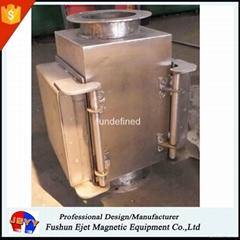 半自动封闭式管道溜槽连接防阻塞颗粒粉末物料除铁器