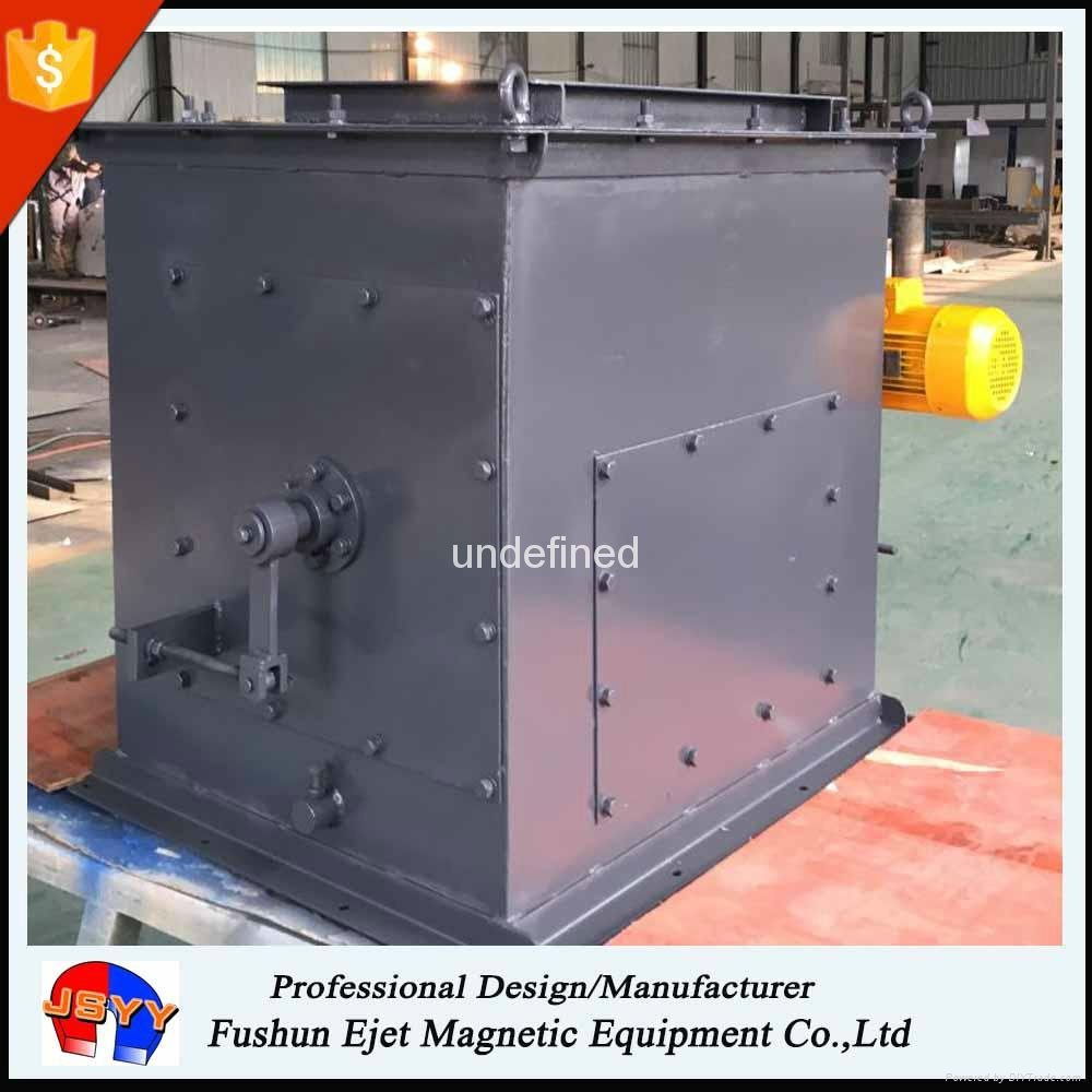 Magnetic dry Drum Separators in Complete dust protecting house