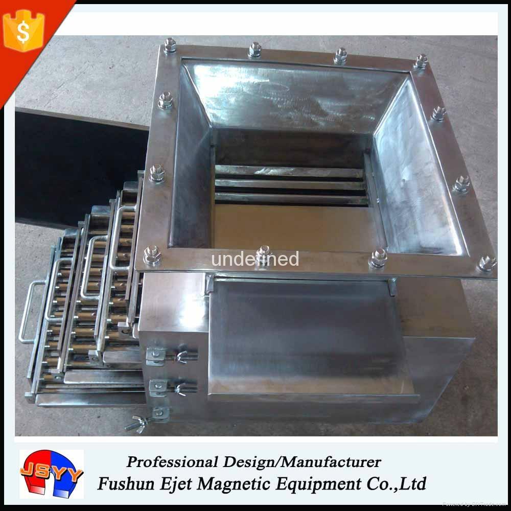 箱式磁格柵、磁力架 重力下落顆粒粉末 溜槽管道除鐵器 5