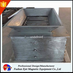In chute/housing magnetic grade separator for solid partical and powder products