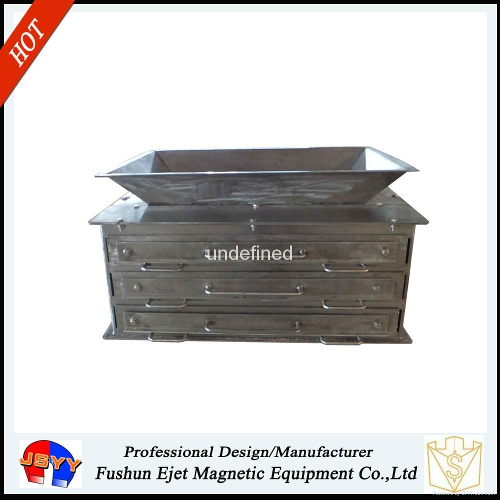 封闭箱式、溜槽多磁棒除铁器 固体颗粒和粉末物料去铁提纯机  2