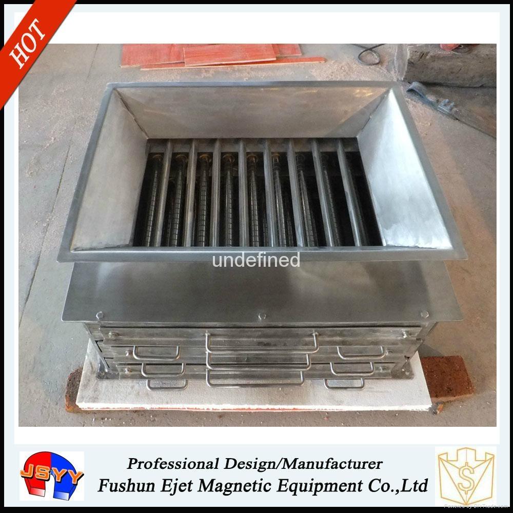 封闭箱式、溜槽多磁棒除铁器 固体颗粒和粉末物料去铁提纯机  3