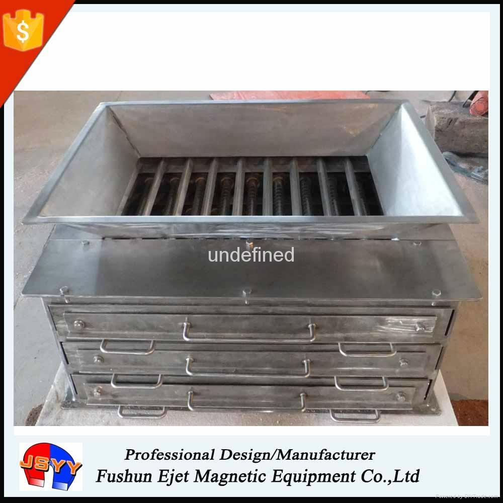 封闭箱式、溜槽多磁棒除铁器 固体颗粒和粉末物料去铁提纯机  5