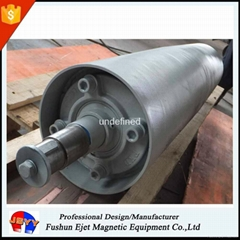magnetic head drive pulley separator for transport belt system