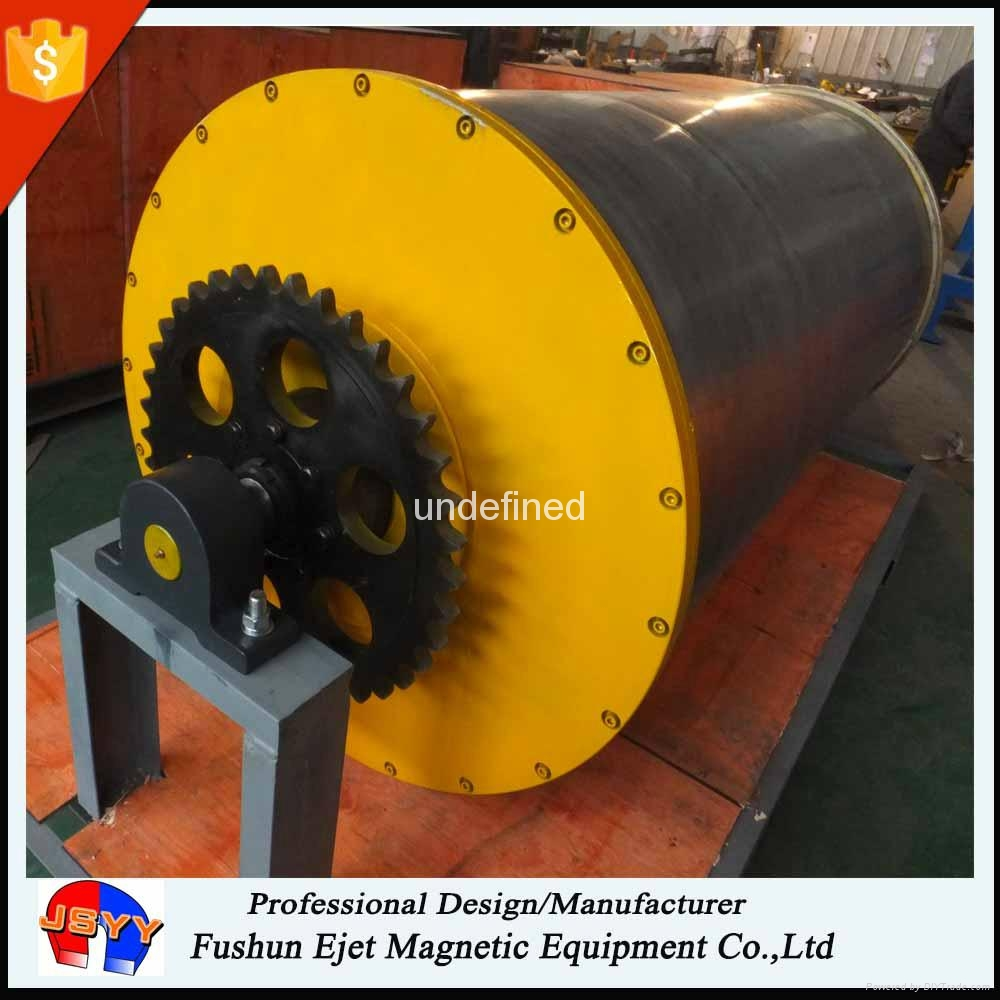 Magnet large rotary drive drum for heavy-duty, high-volume ferrous recovery