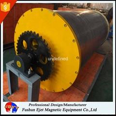 重型、高容量鐵回收 大型除鐵滾筒 磁選驅動滾筒