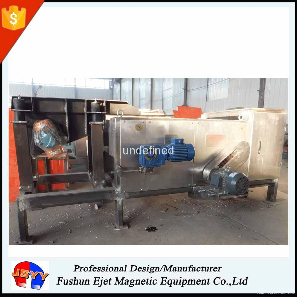 eddy current separation of non-ferrous from car recycling application