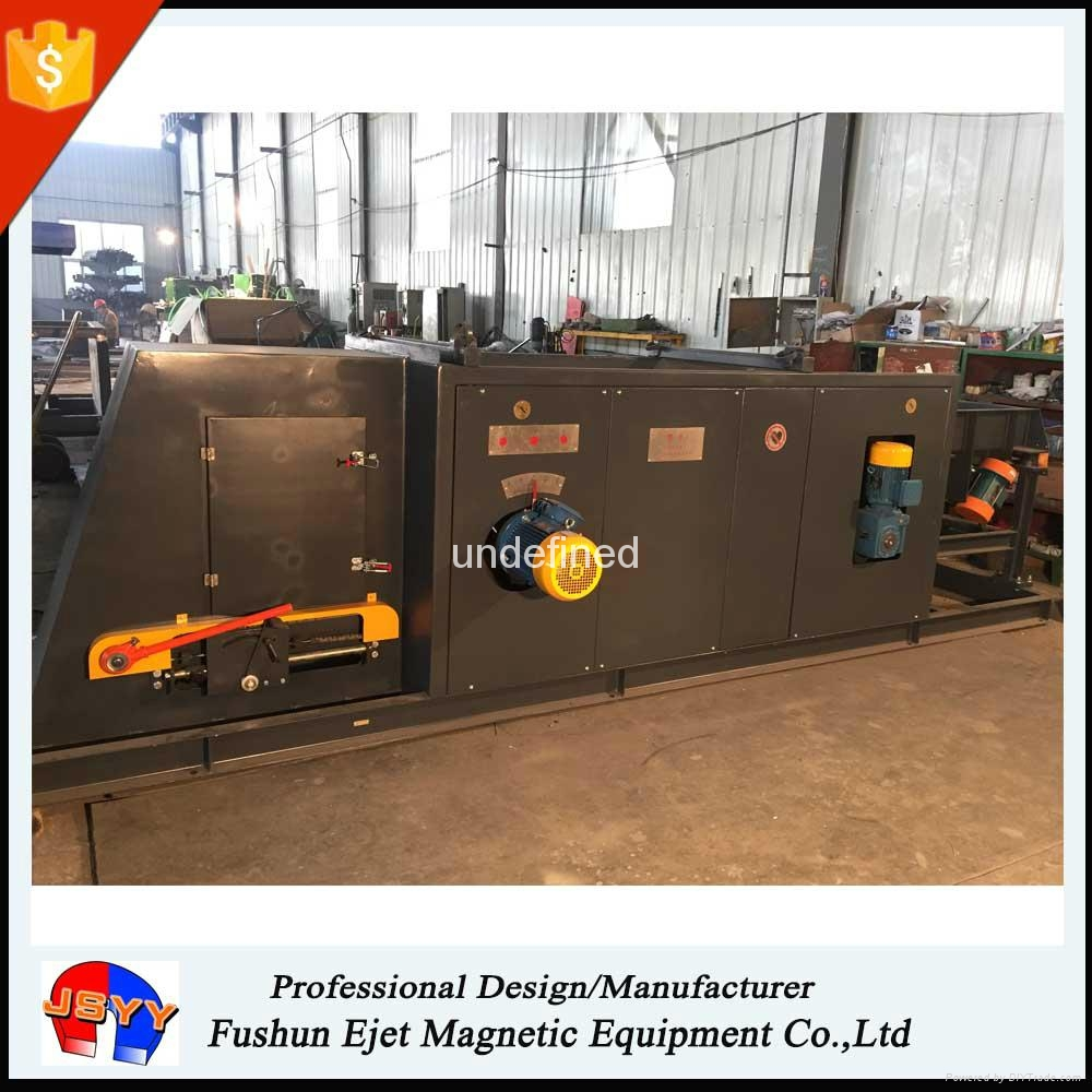 Magnetic crushed aluminum electrolytic capacitors recycling machine