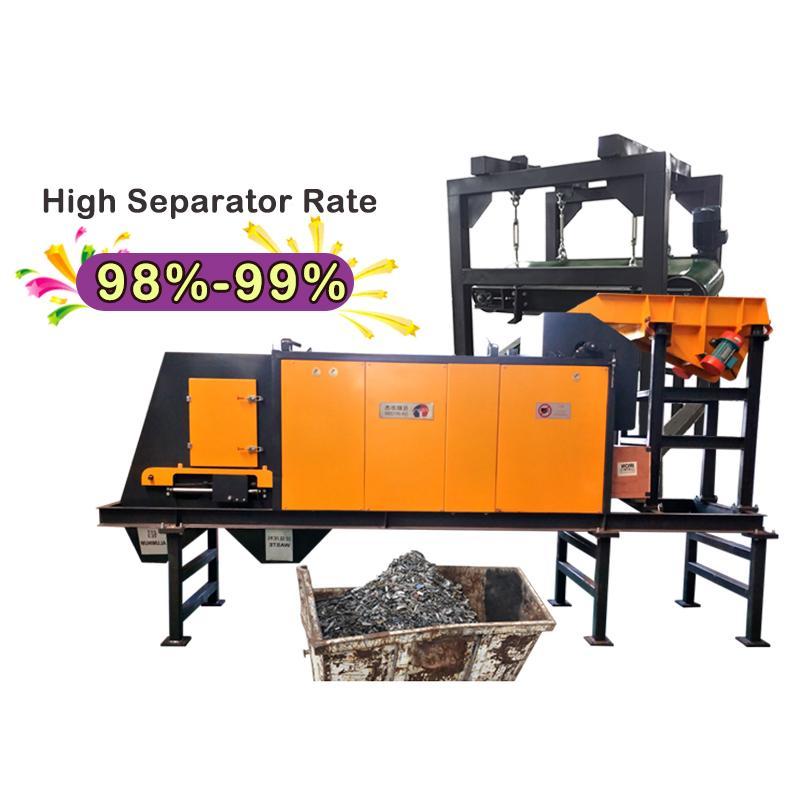 Eddy current aluminum hopping machine for electronics board scrap Copper separat