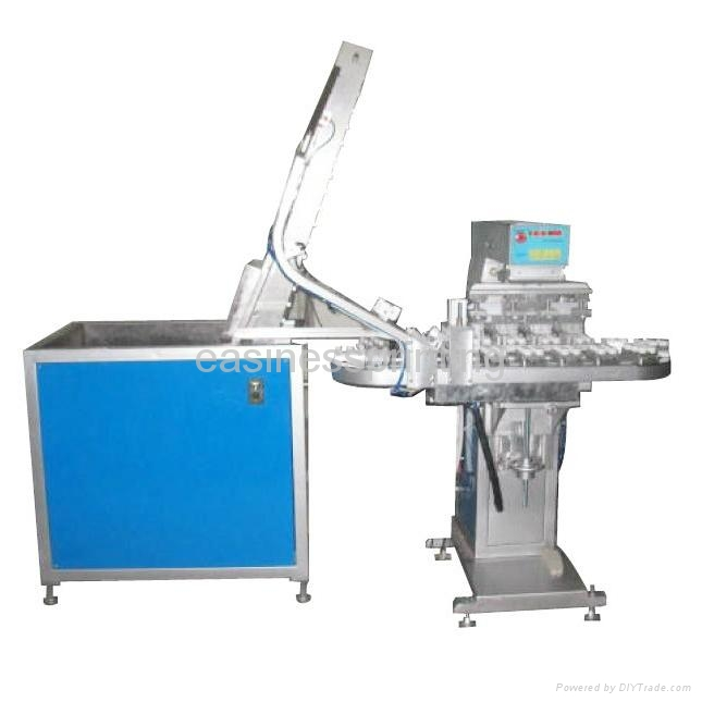 Full-automatic plastic bottle cap pad printing machine with