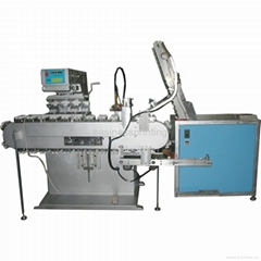 automatic plastic beverage cap pad printing machine with with tank belt