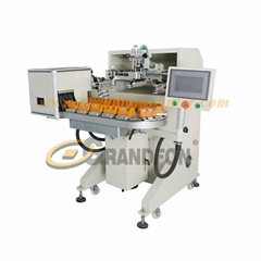 automatic 16 stations conveyor cosmetic bottles screen printing machine