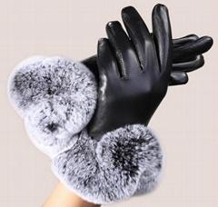 时尚羊皮手套