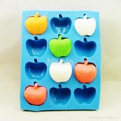 苹果皂模硅胶皂模