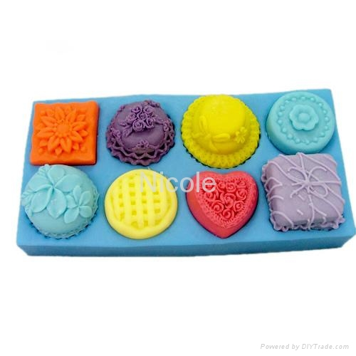 silicone rubber apple soap moulds tray 3