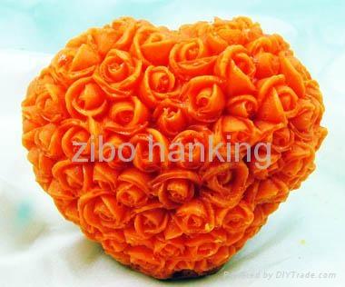 valentine's day silicone rubber rose heart soap mold 4