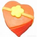 valentine's day silicone rubber rose heart soap mold 5
