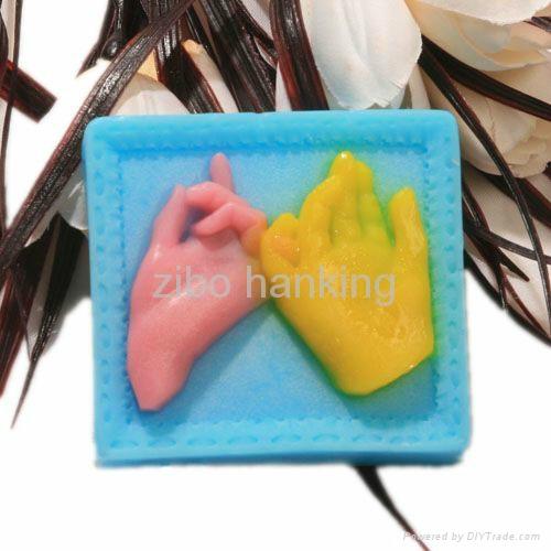 情人节礼物硅胶皂模硅胶模具 3