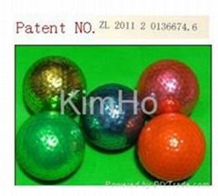 plated golf ball