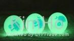 Novelty flourescent golf ball glow golf ball