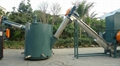 PET bottles crushing, recycling and